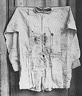 Maximilian's bullet riddled shirt on display
