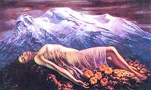 The Sleeping Woman, Popocatepetl