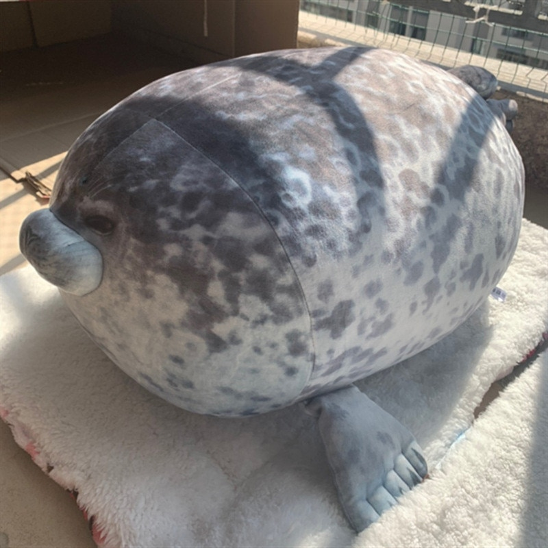 fluffy plush seal pillow seal pillow