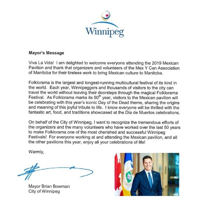 Mayor Message 2019
