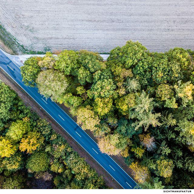 Strasse, Weg und Feld @visualsofdrones