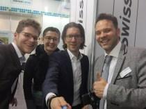 Das OPTIMUM-Team mit Herrn Blaser von SwissLens
