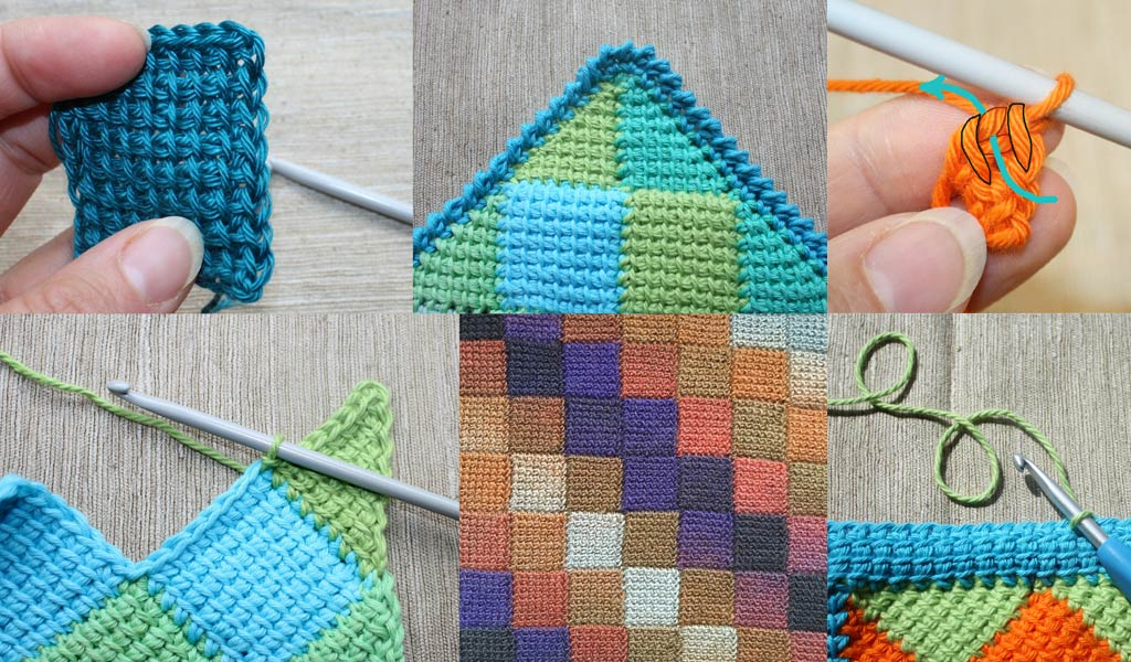 learn tunisian crochet entrelac surrey walton