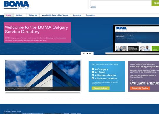 Vendor Directory PRO – BOMA Calgary