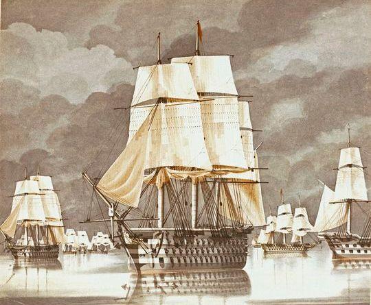HMS Princess Charlotte, ammiraglia inglese nel Mediterraneo