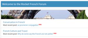 Rocket French forum