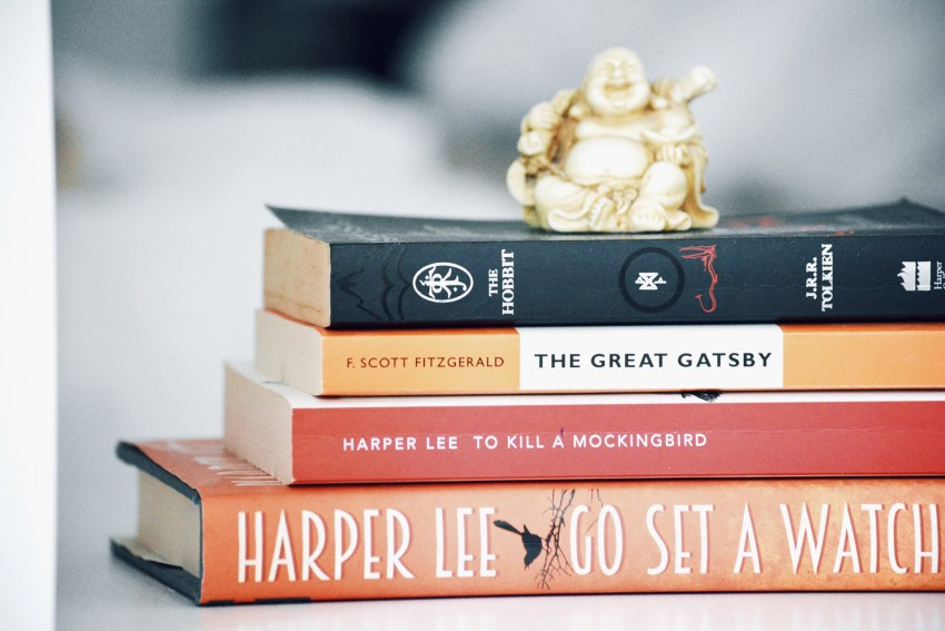 Shelfie of classic books
