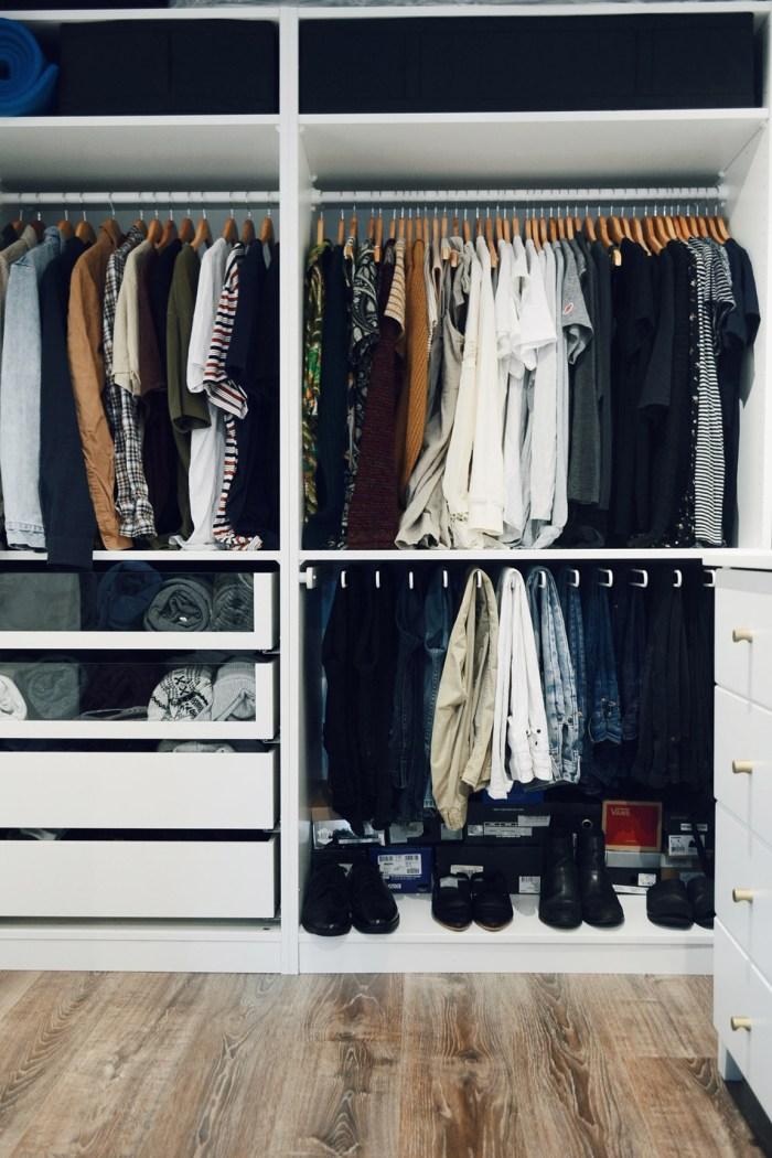 Tiny home wardrobe
