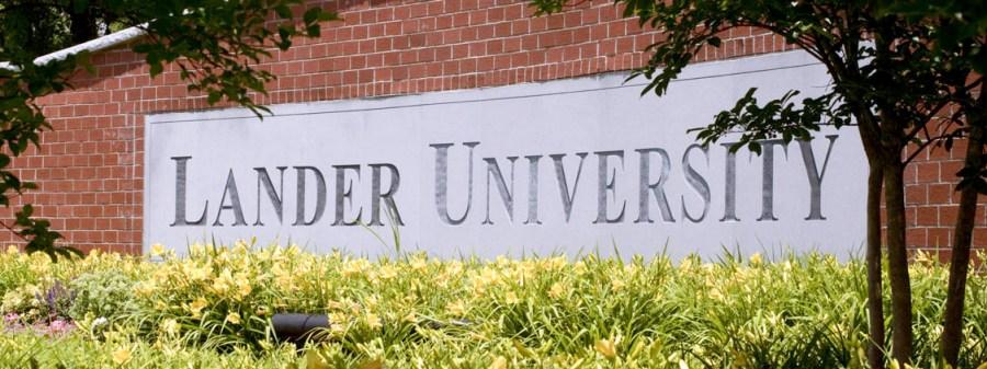Lander University sign