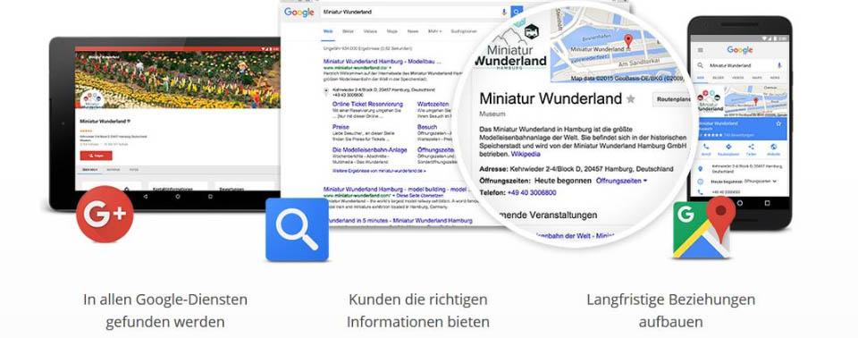 Google My Business Unternehmenseintrag