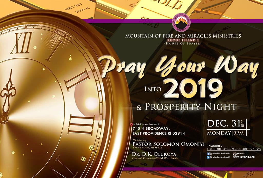 PRAY YOUR WAY INTO 2019