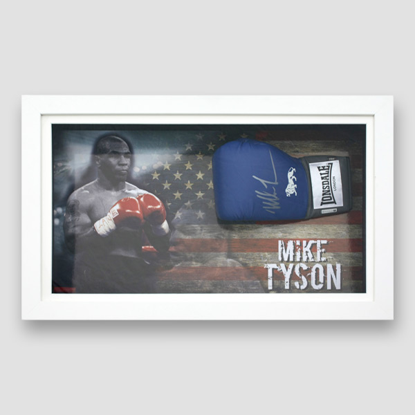 Mike-Tyson-Signed-and-Framed-blue-Boxing-Glove