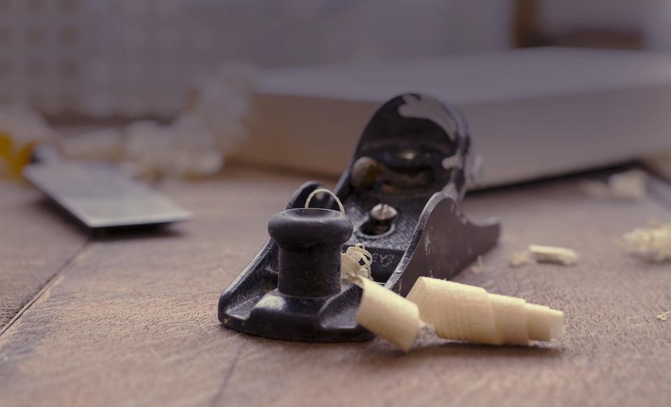Scraping wood