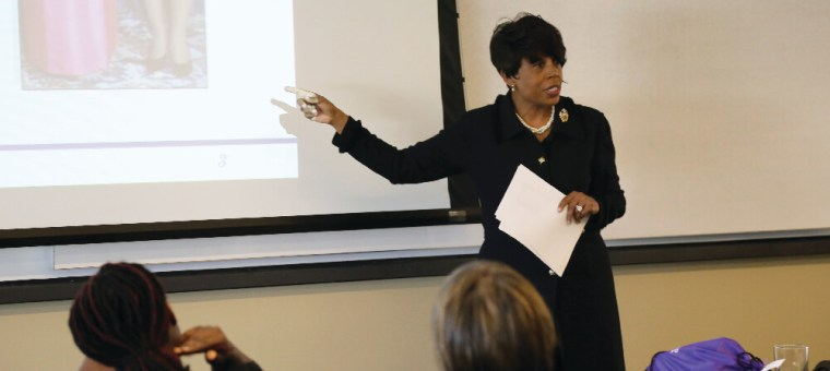 Fellowship speaker Betty Moseley Brown shares her experiences as a woman veteran with the Fellows
