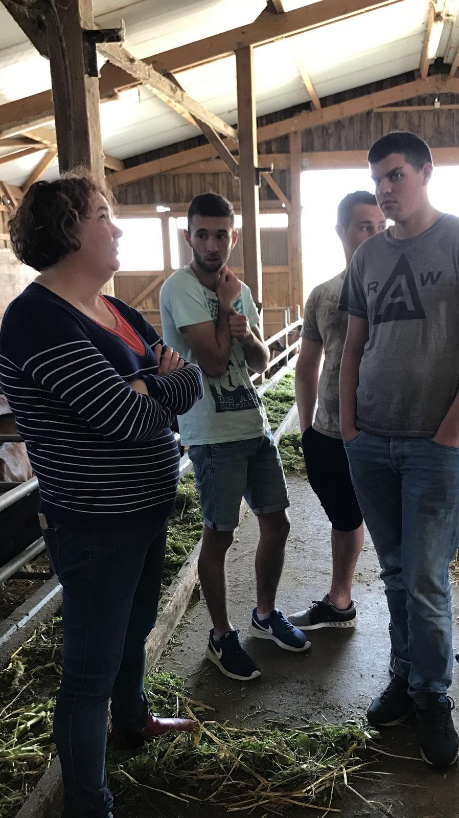 Accueil des Techniciens Agricoles aux Fromages de Sylvie