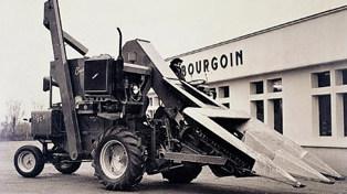1963 Bourgoin Vendée Première machine de récolte maïs Groupe Ploeger Oxbo