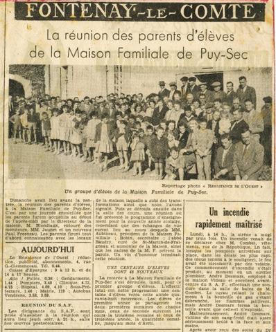 Archives anciens élèves mfr puy-sec 1959 6 rentrées
