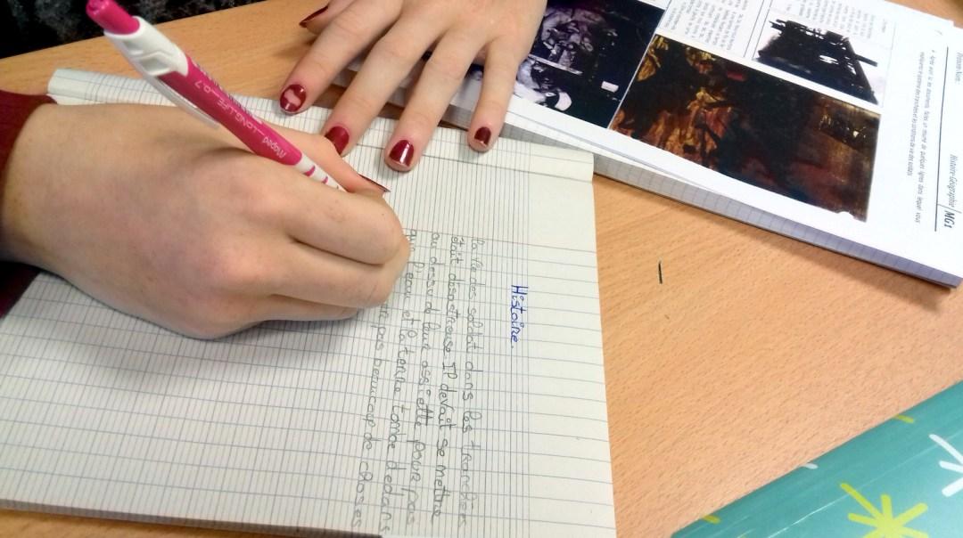 Atelier d'écriture histoire
