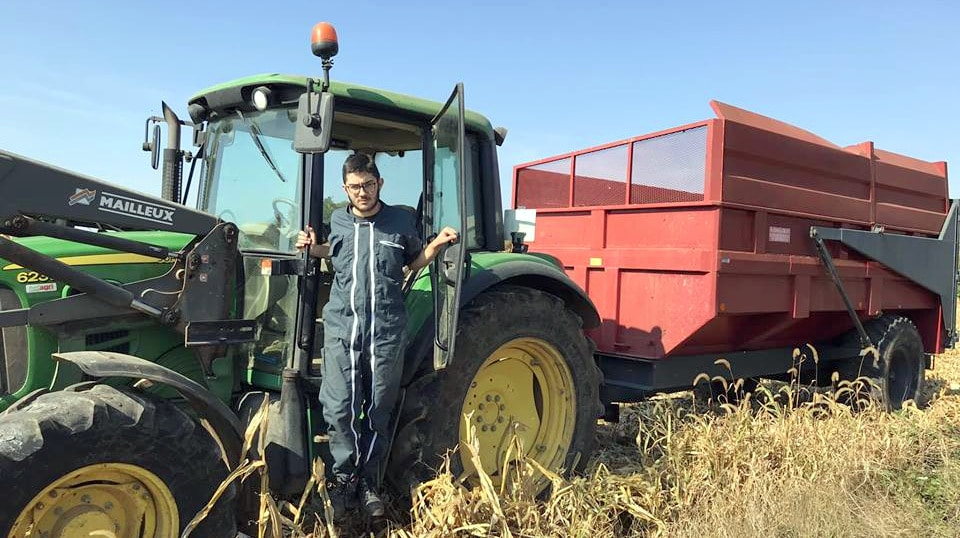 Le talent de Jamy : la conduite du tracteur