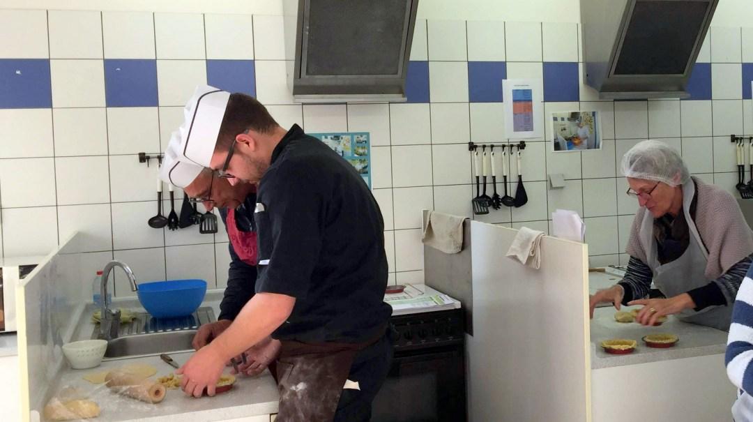 Atelier Patisserie J1 tarte au chocolat et sa farandole de fruits CFA MFR Puy-Sec Formations Adultes (31)