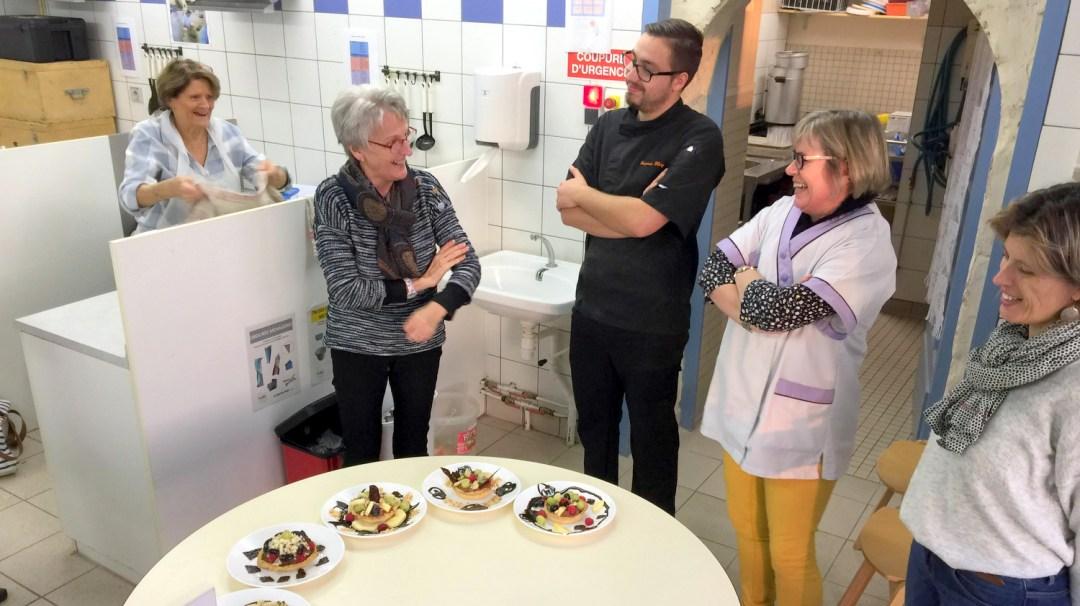 Atelier Patisserie J1 tarte au chocolat et sa farandole de fruits CFA MFR Puy-Sec Formations Adultes (50)