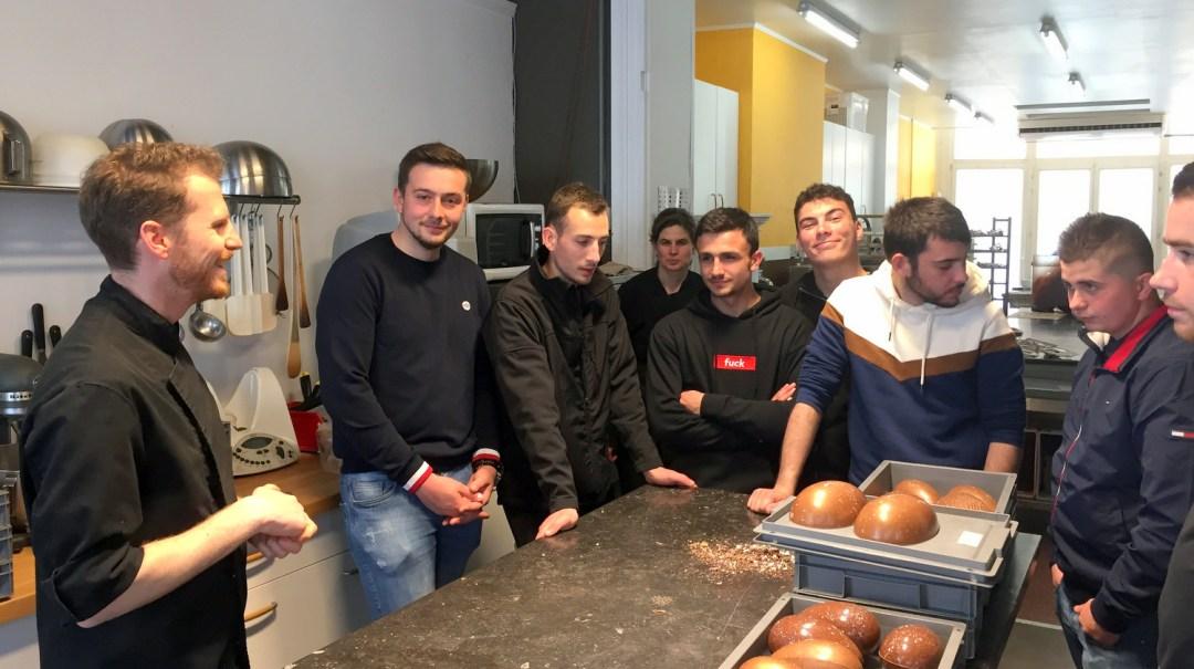 Visite classe TA Chocolat Legast Belgique