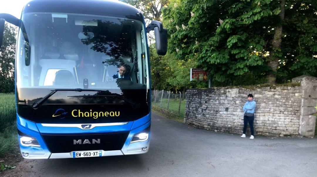 Arrivée du bus