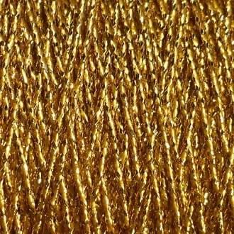 A spool of gold metallic lamé.