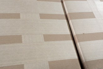 Photograph of our high-test cardboard cartons carefully sealed for shipment.