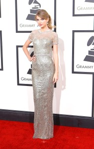 Taylor Swift arrives for the 56th Annual Grammy Awards at Staples Center in Los Angeles on Sunday, Jan. 26, 2014.  (Wally Skalij/Los Angeles Times/MCT)