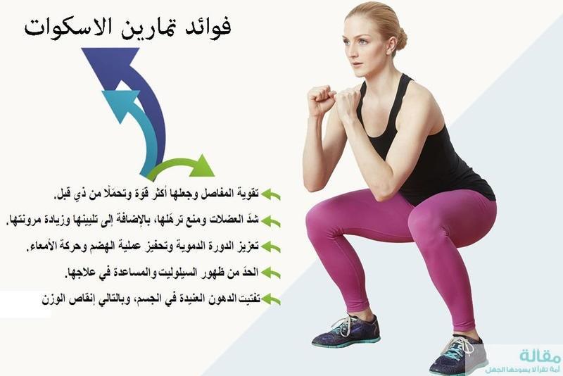 فوائد تمارين الاسكوات في شد الجزء السفلي من الجسم