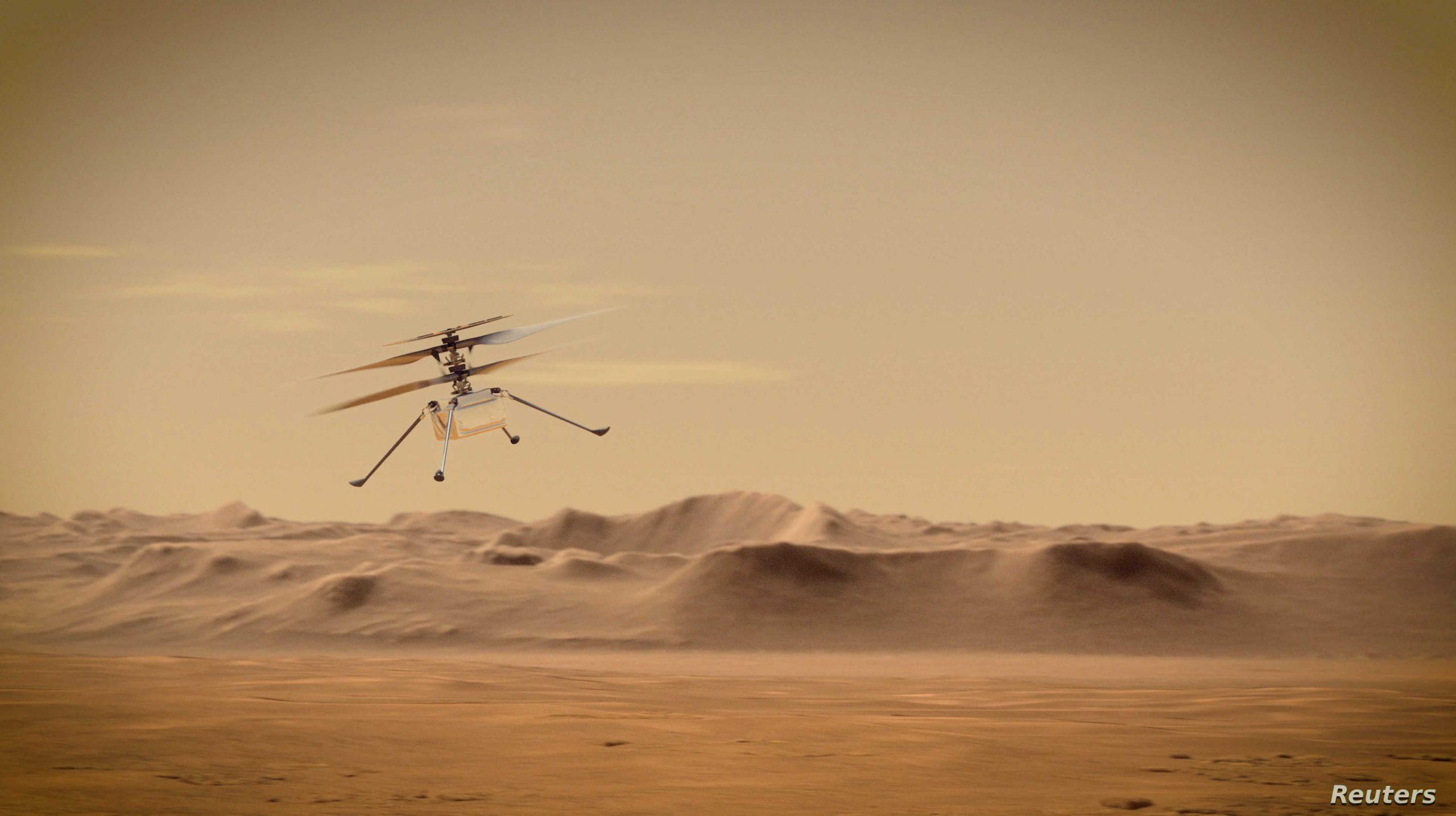 مركبة المريخ التابعة لوكالة ناسا تسقط من مروحية Ingenuity
