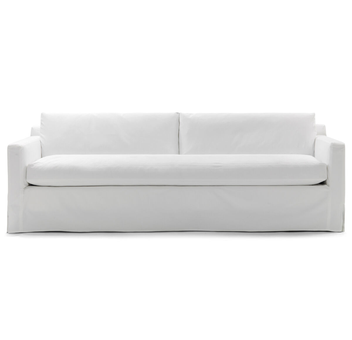 hunter long slipcovered sofa