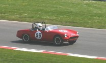 An Elva Courier IV on Cooper Straight