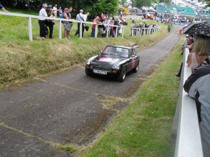 Vic Young tries out his new MGC Racer on Test Hill