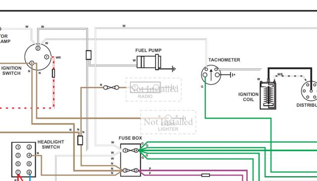 wiring diagram for tachometer  mgc forum  mg experience