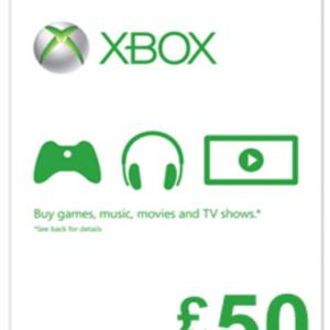 Xbox One: Xbox Live £:50 (latauskoodi)