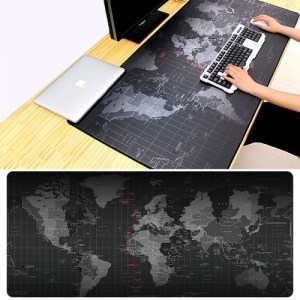 PC: Extended Large Anti-Slip World Map Pattern Soft Rubber Smooth Cloth Surface Game Mouse Pad Keyboard Mat, Size: 60 x 30cm