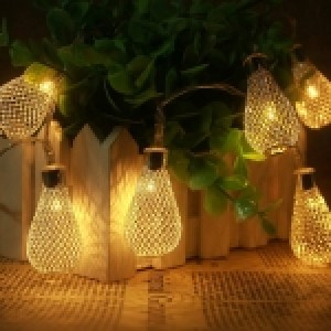 2.7m 3W Metal Light Bulb Style String Decoration Lights, 20 LED with 76cm Extended Cable, AC 220V(Warm White)