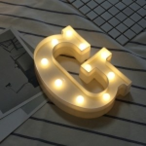 Alphabet English Letter G Shape Decorative Light, Dry Battery Powered Warm White Standing Hanging LED Holiday Light