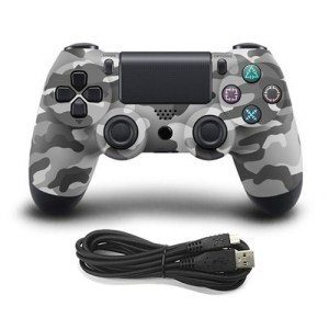 PS4: (Camo Grey)Wired Game Controller for Sony PS4 (Camo Grey)
