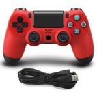 PS4: DoubleShock 4 langallinen ohjain (Red)