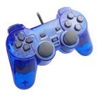 PS2: PS2 Läpinäkyvä Tarvikeohjain (Sininen)