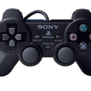 PS2: DualShock 2 peliohjain (Musta) (käytetty)