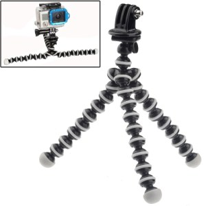 M-MO Mini Octopus Tripod with Tripod Adapter for GoPro NEW HERO /HERO6 /5 /5 Session /4 Session /4 /3+ /3 /2 /1, Xiaoyi and Other Action Cameras (ST-105)