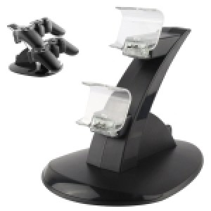 PS4: 2 x USB Charging Dock Station Stand / Controller Charging Stand for PS4(Black)