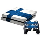 PS4: Finnish Flag Pattern Decal Stickers for PS4 Game Console