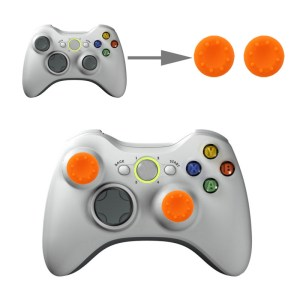 PS4: 2 PCS Silicone Key Protector Thumb Grips Joystick Caps for PS4 & XBOX (Orange)