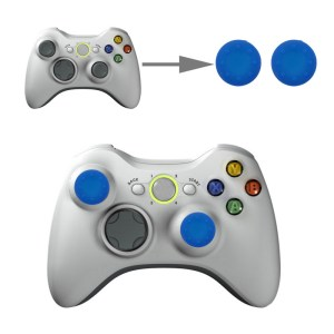 PS4: 2 PCS Silicone Key Protector Thumb Grips Joystick Caps for PS4 & XBOX (Blue)