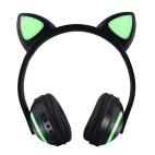 Cat Ear Flashing Glowing Gaming Headset Earphone(Cat Ear)